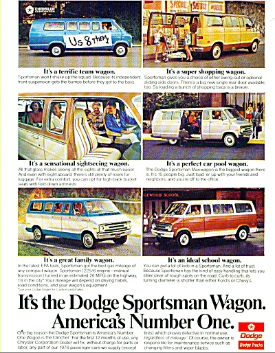Dodge Sportsman Wagon ad   1976 (Image1)