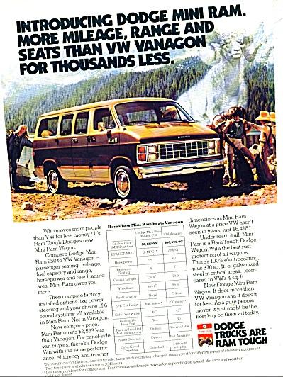 Dodge Mini Ram  ad (Image1)