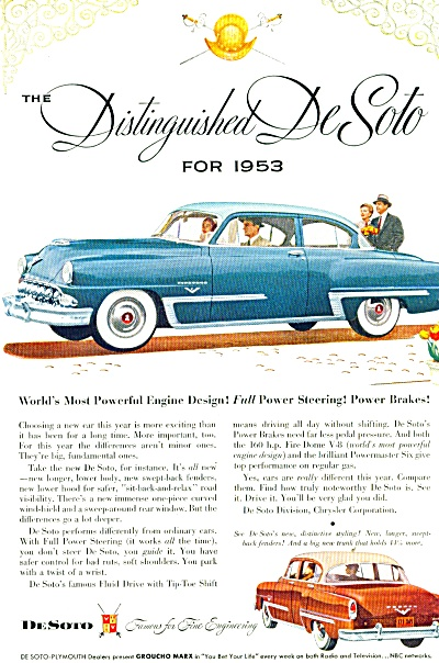 DeSoto CAR automobile for 1953 ad (Image1)
