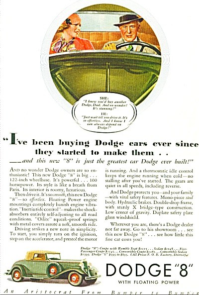 Dodge COUPE WITH RUMBLE SEAT AD (Image1)
