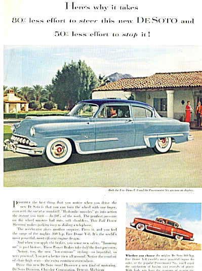 1952 Desoto automobile for 1953 ad FIRE DOME (Image1)