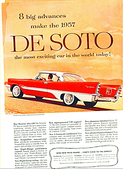 DeSoto automobile for 1957 ad (Image1)