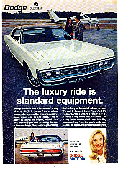 Dodge Monaco for 1970 ad LUXURY RIDE (Image1)