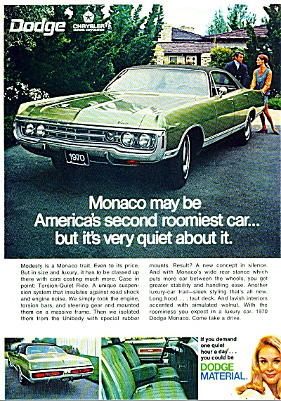 Dodge Monaco for 1970 ad MODESTY (Image1)