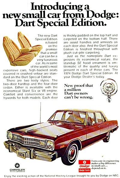 Dodge Dart  auto for 1974 ad (Image1)