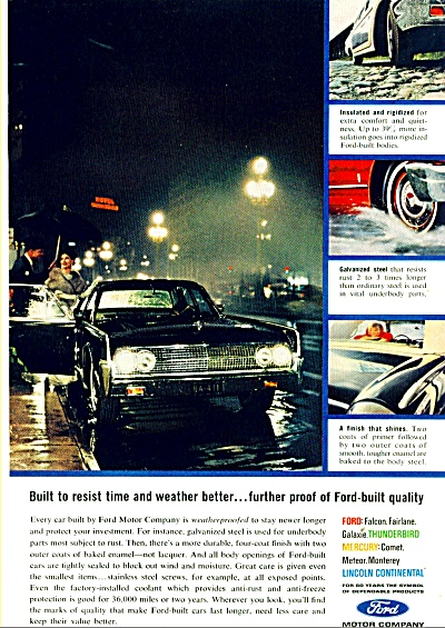 Ford Motor Car Ad Car Weatherproofing