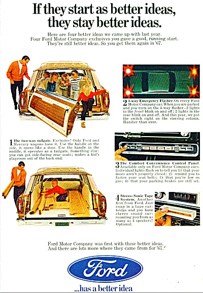 Ford Motor car ad  - 1967 (Image1)