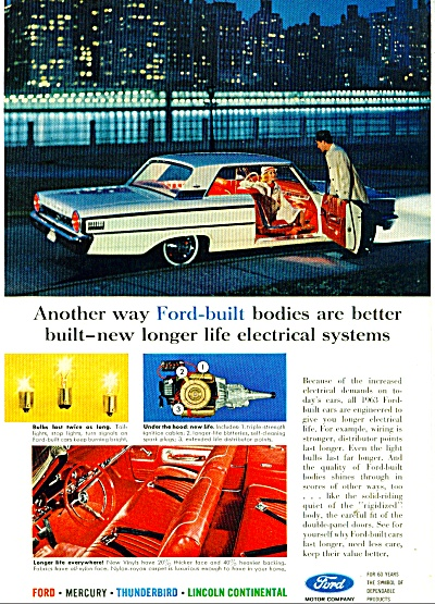 1963 Ford Motor car ad  Electrical is Better (Image1)