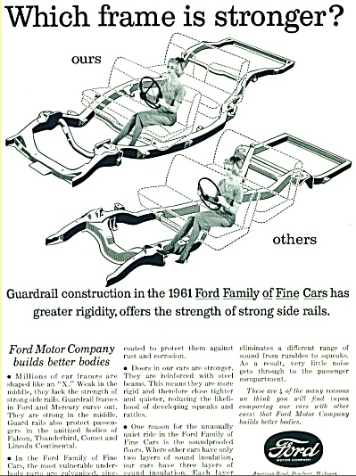 Ford Motor car ad   1961 (Image1)