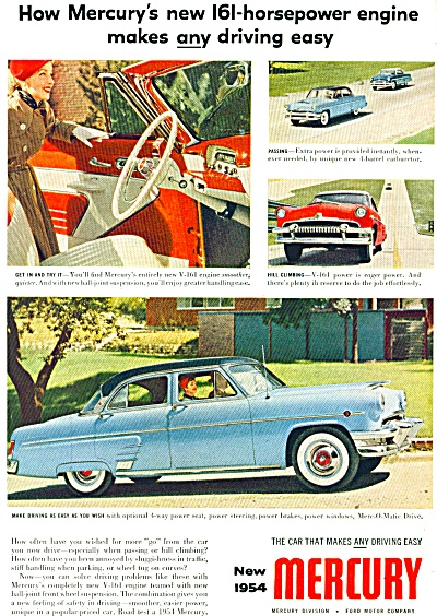 Mercury  automobile for 1954 ad (Image1)
