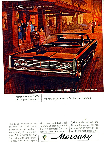Mercury Automobile For 1965 Ad Cloister Sea Island