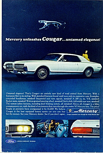 Mercury Cougar Automobile - 1966