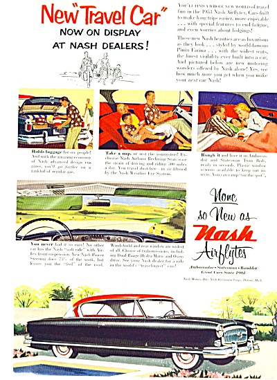 1953 Nash Airflytes automobile CAR AD (Image1)