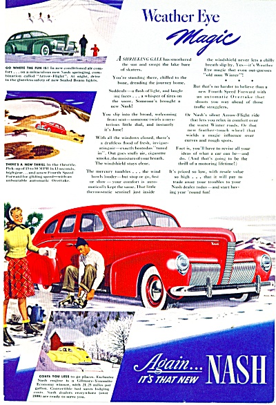 1940 Nash CAR Promo AD ART Skating SIP (Image1)