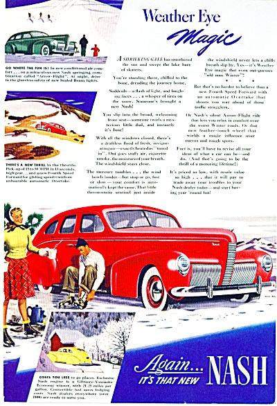 1940 Nash CAR Promo AD ART Skating SIP (Image1)