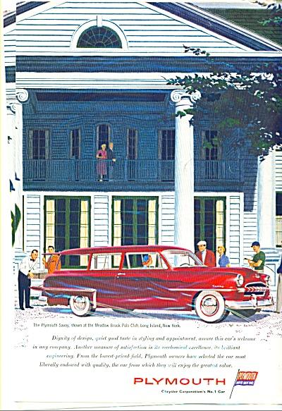 Plymouth Savoy automobile ad (Image1)
