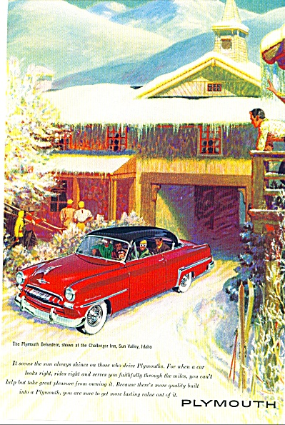 Plymouth Belvedere Auto Ad.