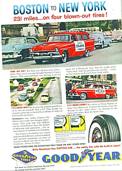 Goodyear ad Boston to New York race ad  1957 (Image1)