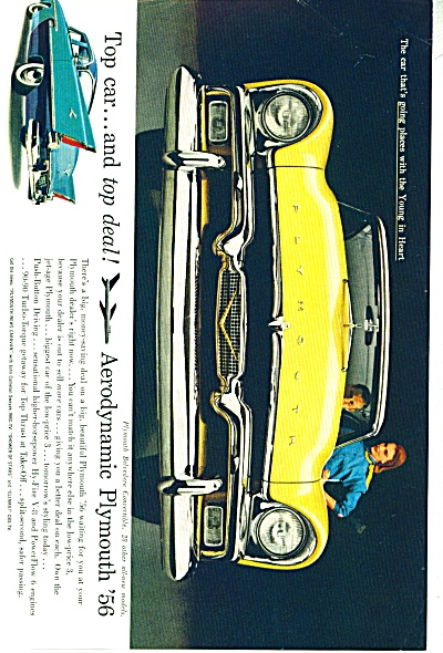 Plymouth Belvidere auto 1956 ad (Image1)