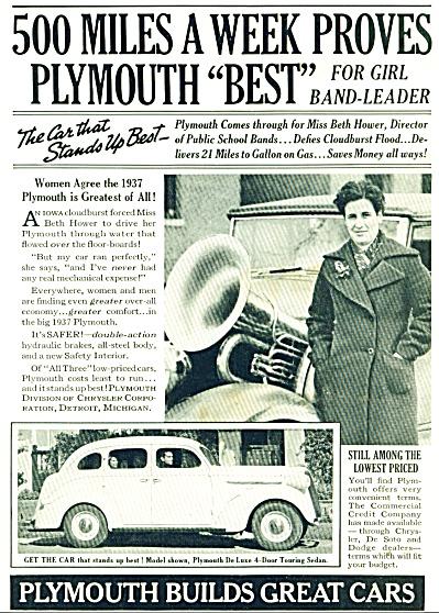 Plymouth  DeLuxe Sedan 1935 ad (Image1)
