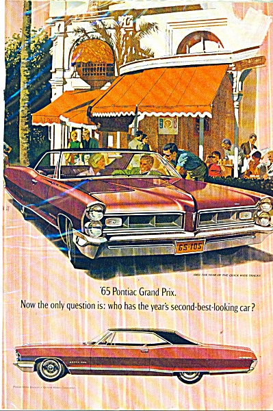 1965 Pontiac Grand Prix automobile ad (Image1)