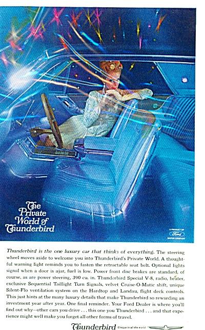 Thunderbird automobile ad   - 1964 (Image1)