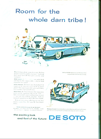 DeSoto Automobile Station wagon for 1958 ad (Image1)