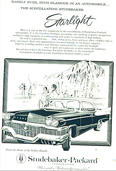 Studebaker-packard Automobile Ad 1958