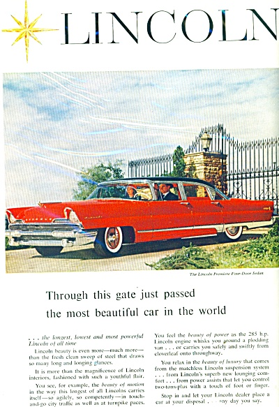 Lincoln automobile for 1956 (Image1)