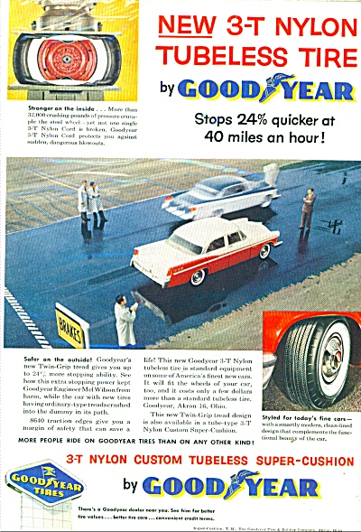 Good Year Tires Ad - 1956
