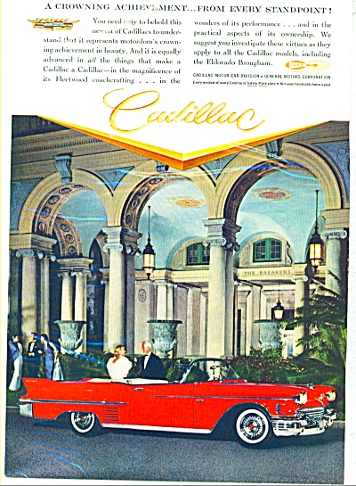 Cadillac Automobile For 1958