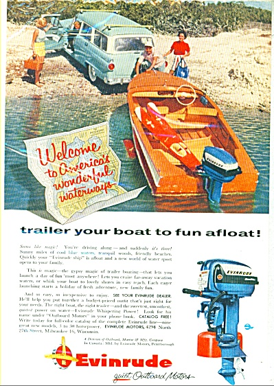 1965 Evinrude outboard Boat Motor  AD (Image1)