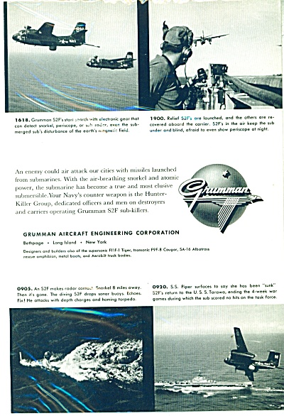 Grumman Aircraft engineering Corp. ad   1956 (Image1)