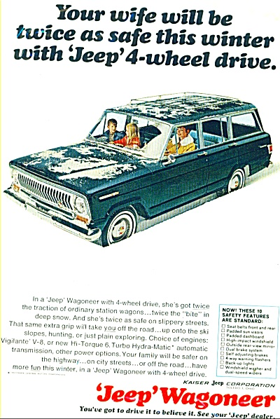Jeep Wagoneer ad for 1966 (Image1)