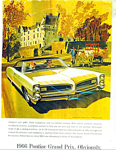 Pontiac Grand Prix automobile for 1966 ad (Image1)