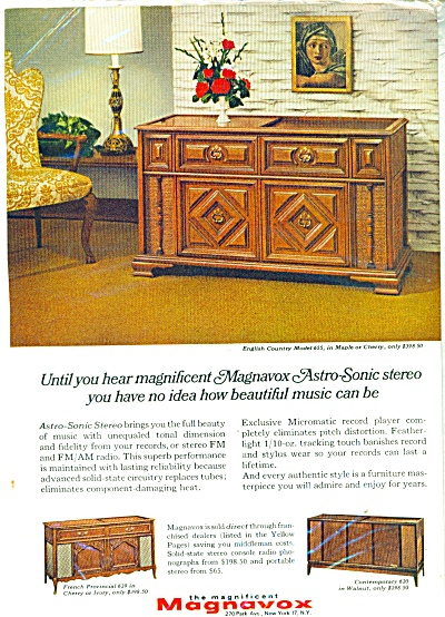 Magnavox Astro sonic stereos ad  1966 (Image1)
