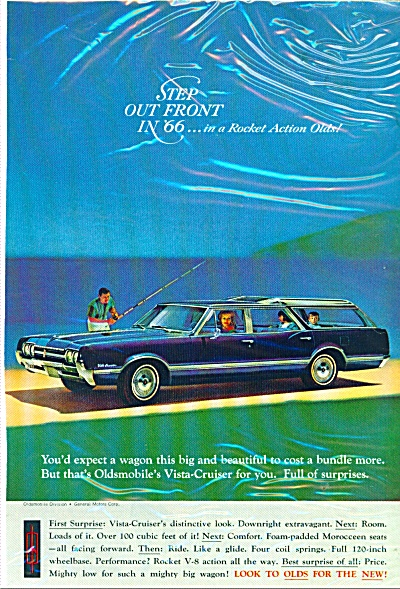 Oldsmobile  Vista Cruiser for 1966 ad (Image1)
