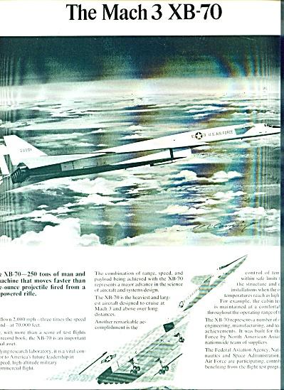 The Mach 3 XB-70 ad  - 1966 North American A (Image1)
