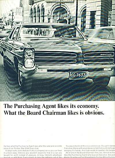 Wide Track Pontiac Auto For 1966 Ad