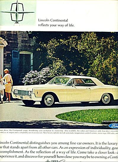 Lincoln Continental automobile for 1966 ad (Image1)