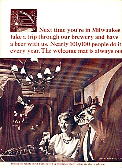 Jos. Schlitz Brewing  Co. ad for 1966 (Image1)