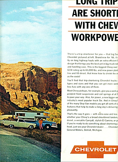 1966 CHEVY Chevrolet Truck AD 2pg Heavyweight  (Image1)