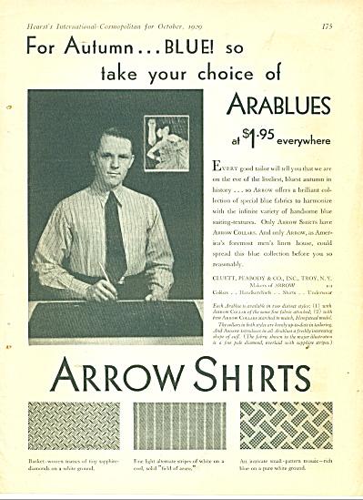 1929 ARROW Shirt LEYENDECKER Photo Print AD (Image1)