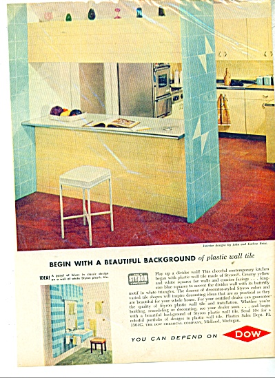 Dow plastic wall tile ad  - 1957 (Image1)