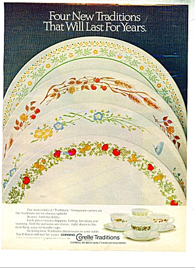 Corelle Traditions ad - 1981 (Image1)