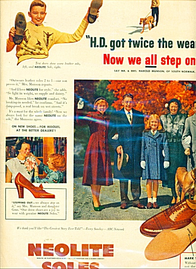 Neolite soles on shoes ad - 1950 (Image1)