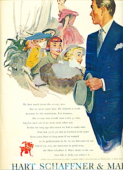 1950 Hart Schaffner & Marx suits AD  Tom Hall (Image1)