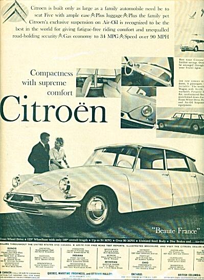 Citroen automobile ad   1960 (Image1)