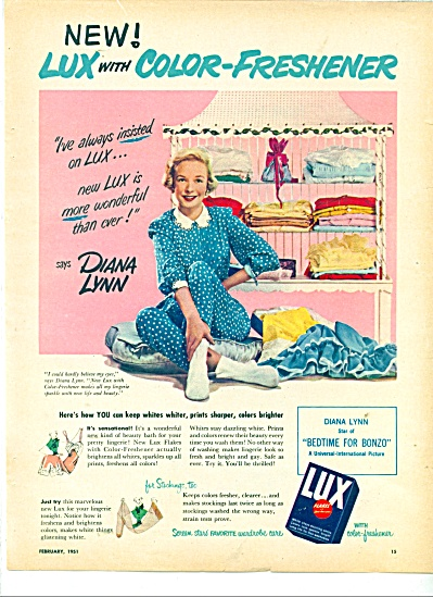 Lux soap - Diana Lynn - ad  1951 (Image1)
