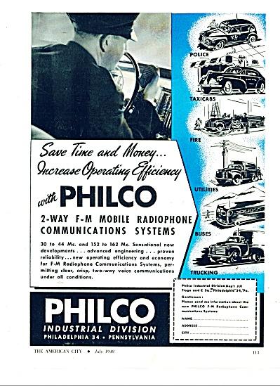 Philco Industrial division Co. ad  - 1948 (Image1)